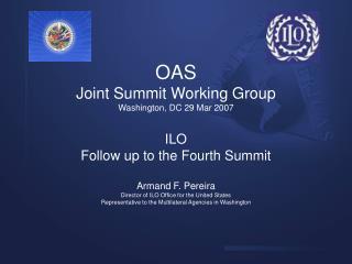 OAS Joint Summit Working Group Washington, DC 29 Mar 2007