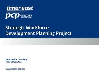 Strategic Workforce Development Planning Project