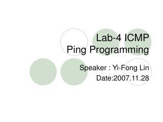 Lab-4 ICMP  Ping Programming