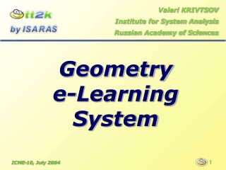 Geometry  e-Learning System