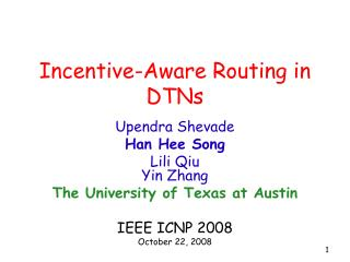 Incentive-Aware Routing in DTNs