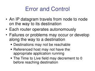 Error and Control