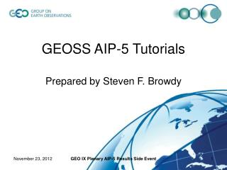 GEOSS AIP-5 Tutorials