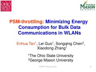 PSM-throttling: Minimizing Energy Consumption for Bulk Data Communications in WLANs