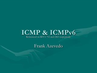 ICMP & ICMPv6