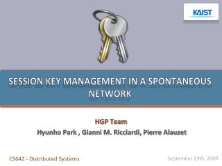 Session key management in a spontaneous network