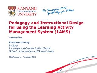 Pedagogy and Instructional Design for using the Learning Activity Management System (LAMS)