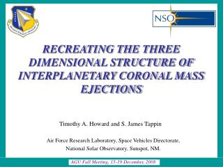 RECREATING THE THREE DIMENSIONAL STRUCTURE OF INTERPLANETARY CORONAL MASS EJECTIONS