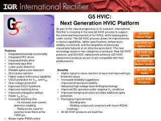 G5 HVIC:  Next Generation HVIC Platform
