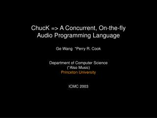 What is  ChucK ?
