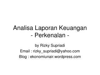 Analisa Laporan Keuangan - Perkenalan -