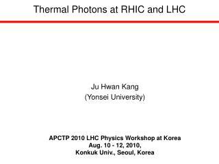 Thermal Photons at RHIC and LHC