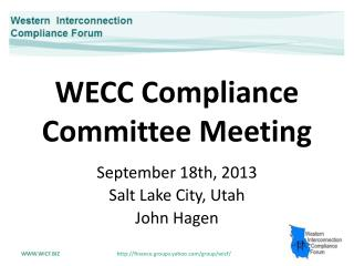 WECC Compliance  Committee Meeting