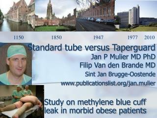 Standard tube versus Taperguard  Jan P Mulier MD PhD Filip Van den Brande MD