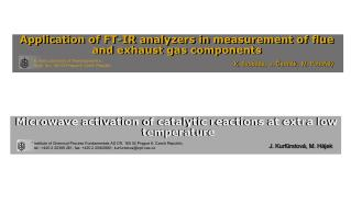 Application of FT-IR analyzers in measurement of flue and exhaust gas components