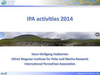 IPA activities 2014