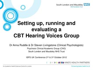 Setting up, running and evaluating a  CBT Hearing Voices Group