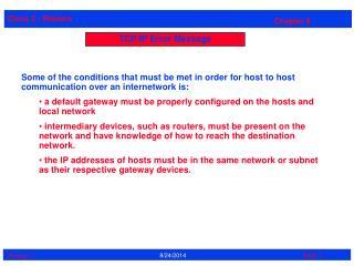 TCP/IP Error Message