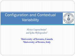 Configuration and Contextual Variability