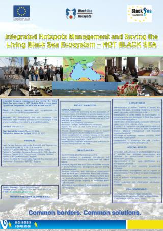Integrated Hotspots Management and Saving the Living Black Sea Ecosystem - HOT BLACK SEA