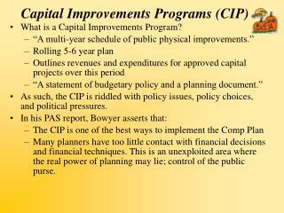 Capital Improvements Programs CIP