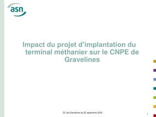 Impact du projet d'implantation du terminal méthanier sur le CNPE de Gravelines