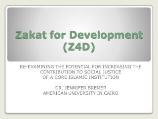 Zakat  for Development (Z4D)