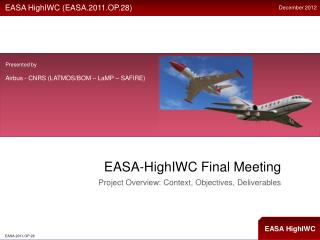 EASA- HighIWC  Final Meeting
