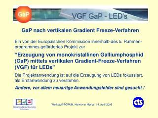 VGF - GaP LEDs