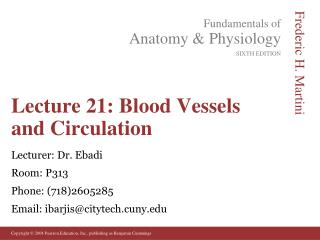 Lecture 21: Blood Vessels and Circulation