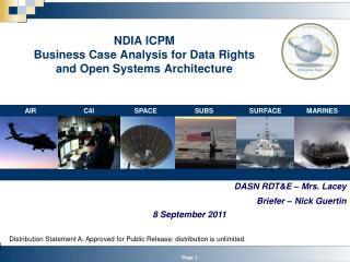 NDIA ICPM Business Case Analysis for Data Rights and Open Systems Architecture