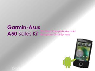 Garmin-Asus  A50  Sales Kit