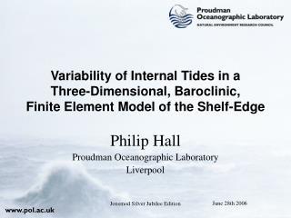 Philip Hall Proudman Oceanographic Laboratory Liverpool