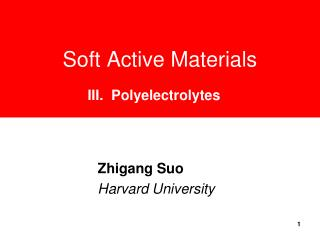 Soft Active Materials