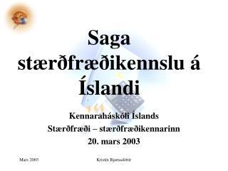 Saga stærðfræðikennslu á Íslandi