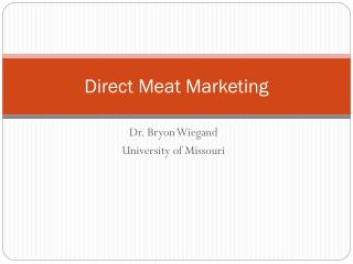 Direct Meat Marketing