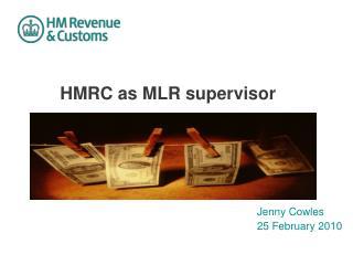HMRC as MLR supervisor