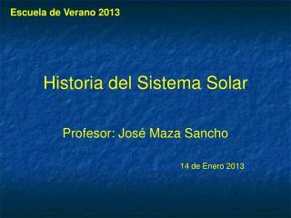 Historia  del  Sistema  Solar