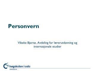 Personvern