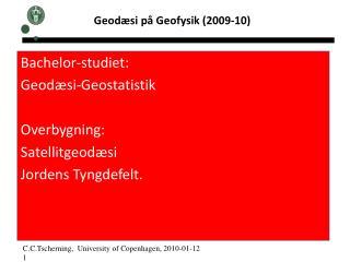 Geodæsi på Geofysik (2009-10)