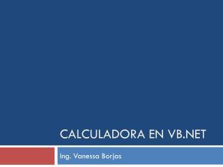 Calculadora en vb