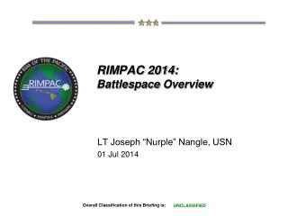 RIMPAC 2014: Battlespace  Overview