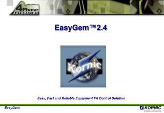 EasyGem 2.4  Technology Summary for SECS Communication
