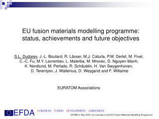 EU fusion materials modelling programme: status, achievements and future objectives
