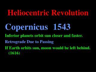 Heliocentric Revolution