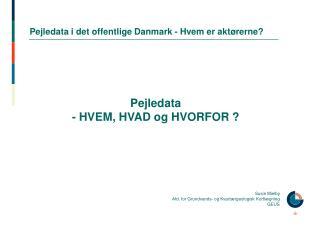 Pejledata i det offentlige Danmark - Hvem er aktørerne?