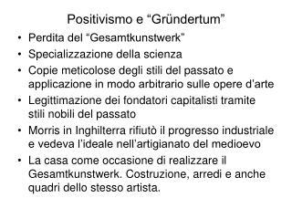 "Positivismo e ""Gründertum"""