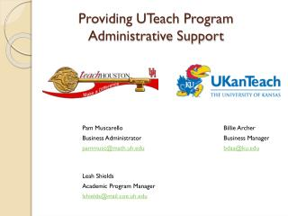 Providing UTeach Program Administrative Support
