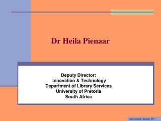 Dr Heila Pienaar