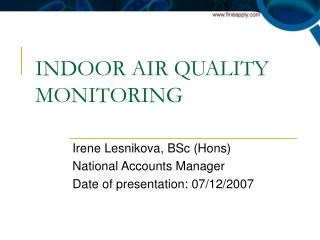 INDOOR AIR QUALITY MONITORING